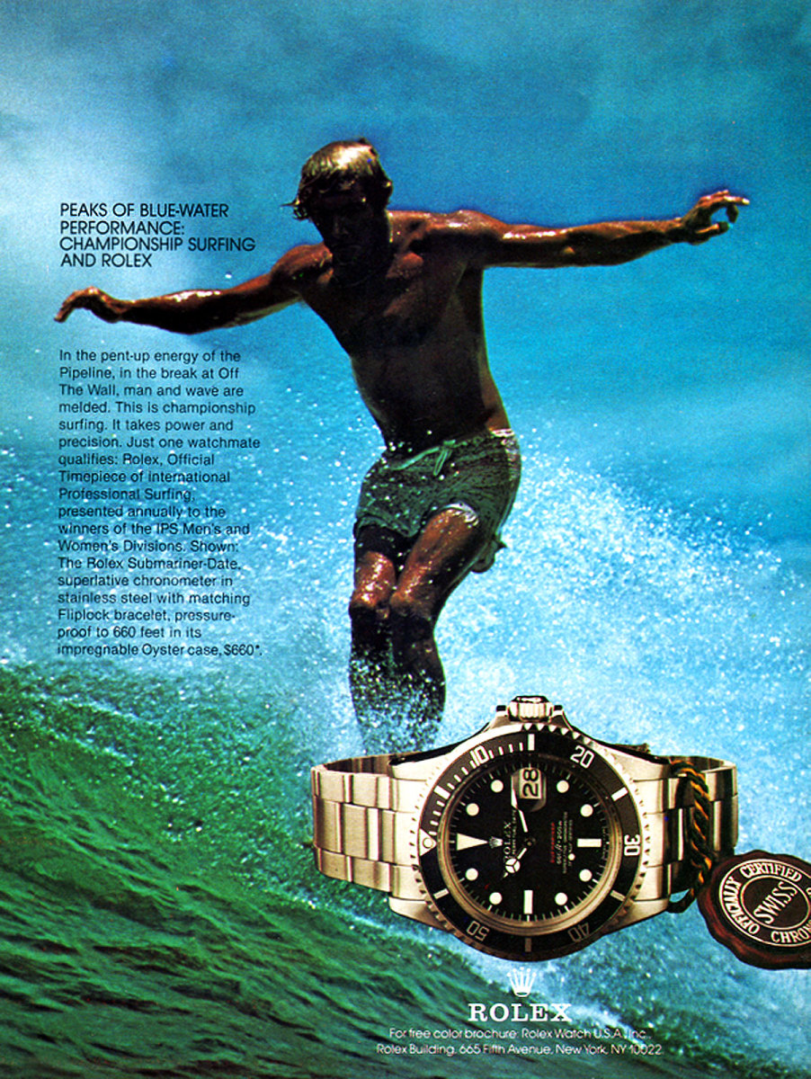 Single-Red-Surfing-Submariner-Rolex-Ad