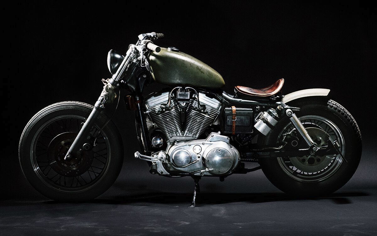 Custom Evil Knievel 1976 Harley Davidson Xl1000: This Custom Military-Inspired Harley Davidson Is Amazing