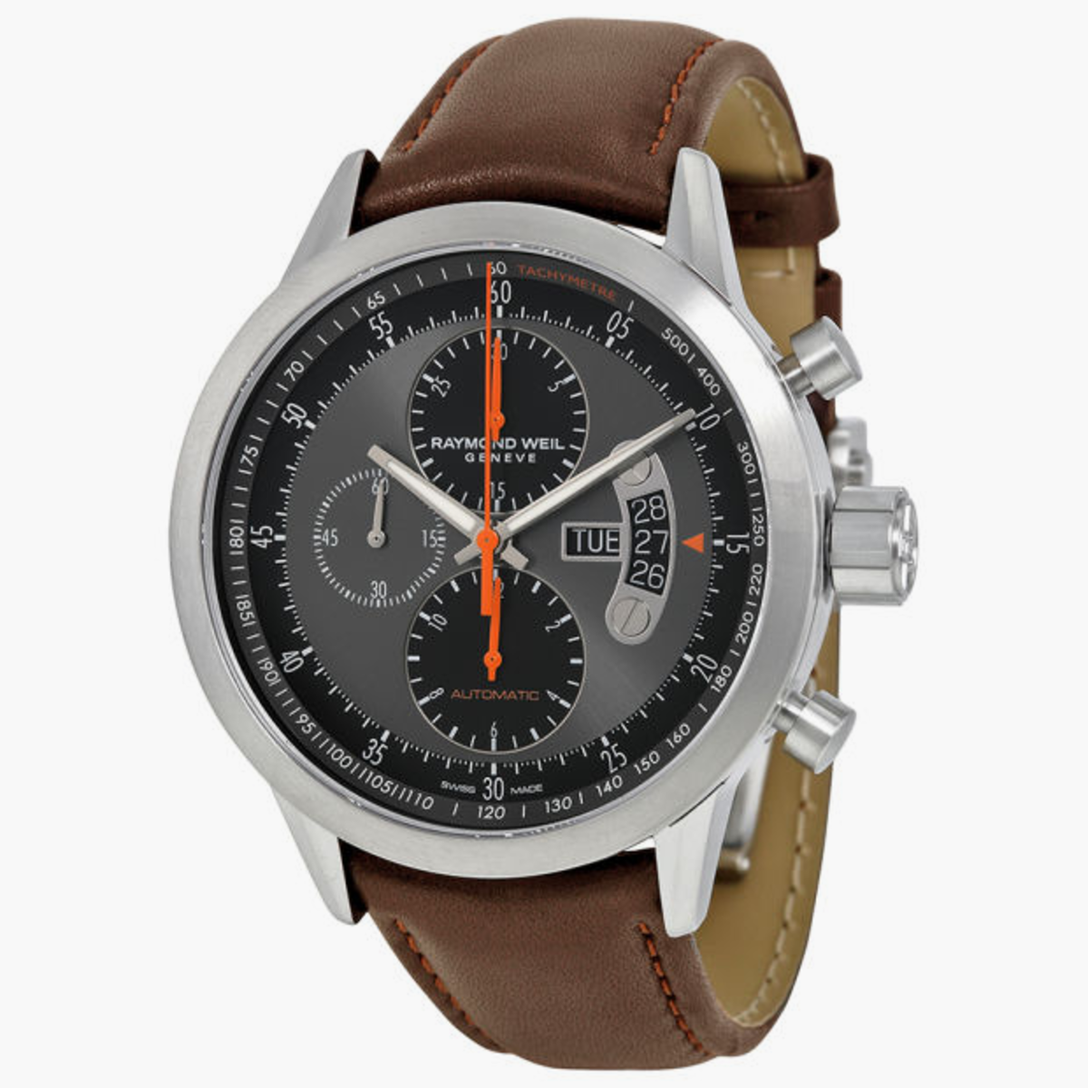 10 absurdly cool swiss watches under 1 500 airows 2 raymond weil lancer automatic chronograph
