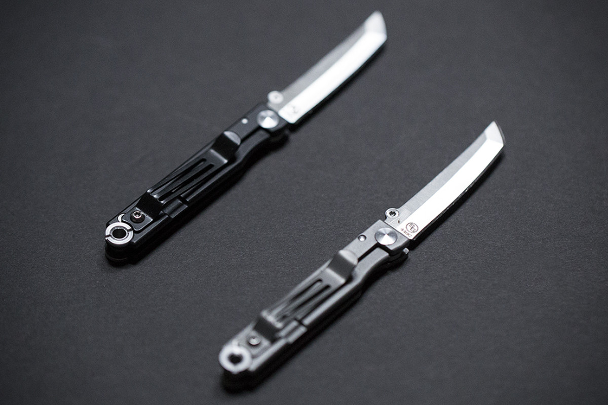 Somebody Shrunk Samurai Swords Into Pocket Sized Folding