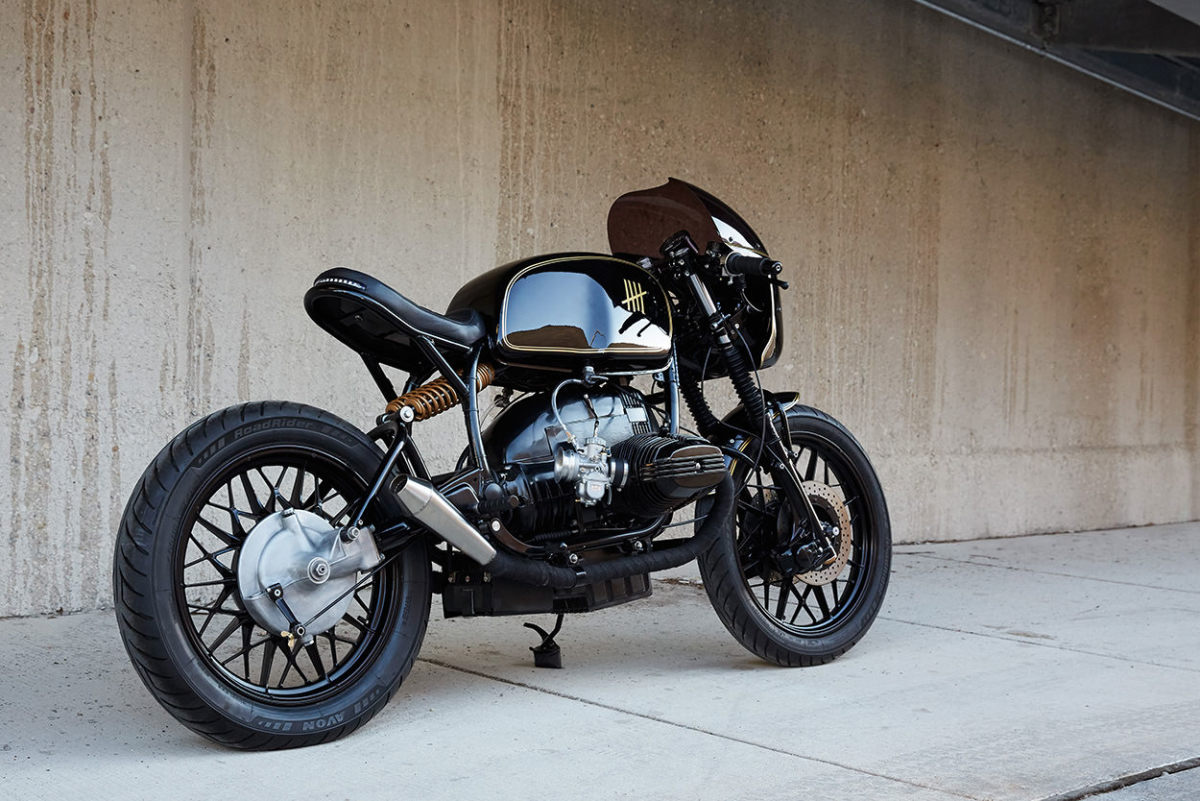 9 stunning photos of federal moto 39 s bmw r100 caf racer airows. Black Bedroom Furniture Sets. Home Design Ideas