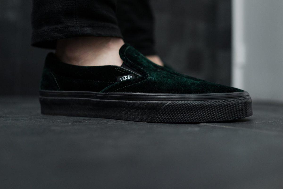 vans green velvet